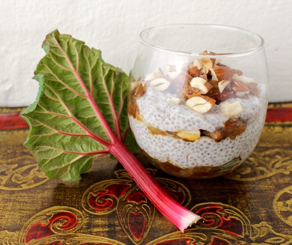 Rabarberkompot med kokospalmesukker og vanille - Mad med glød