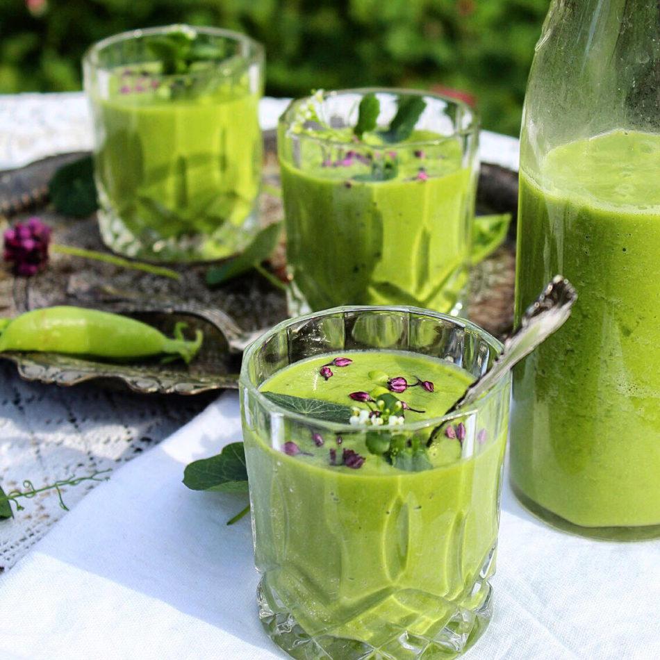 Grøn gazpacho - Plantebaseret / Vegansk opskrift - Mad med glød
