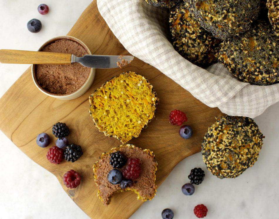 Boghvede/risboller med gulerod og gurkemeje - Vegansk opskrift - Mad med glød