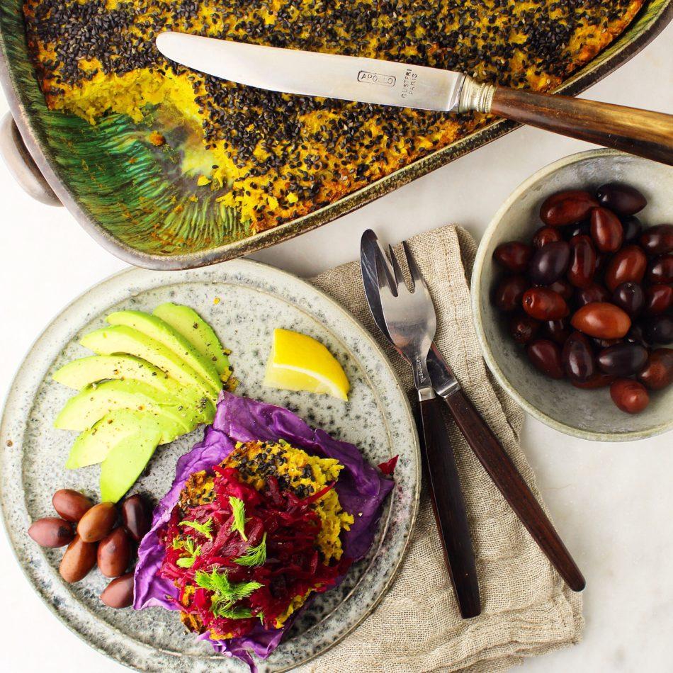 Grønsagspostej med kikærter, hasselnødder og rodfrugter - Plantebaseret / Vegansk opskrift - Mad med glød