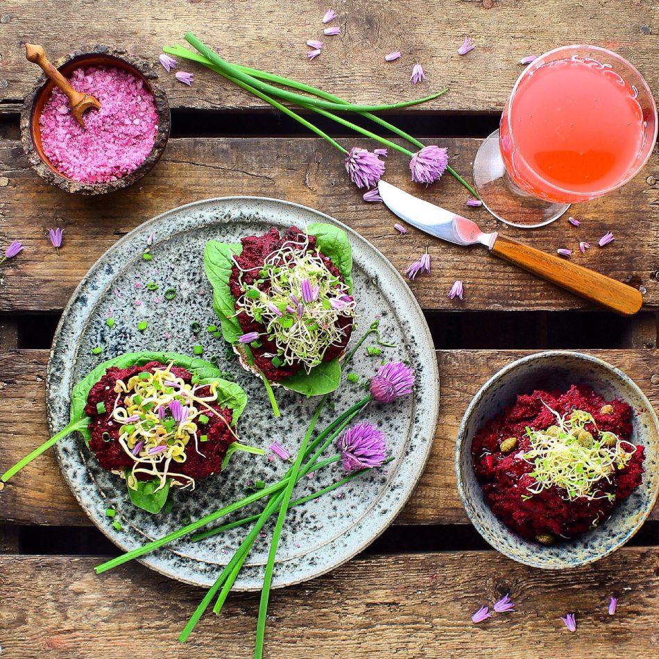 Rødbedehumus - Vegansk opskrift - Mad med glød