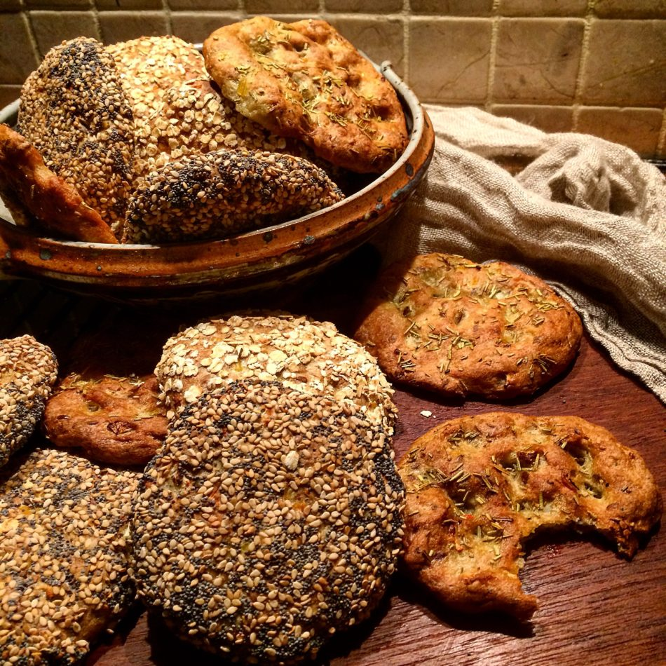 Glutenfrie boller med kogt quinoa og blomkål - Vegansk og glutenfri opskrift - Mad med glød